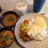 アンジャリ - 料理写真:カレー2種セット&ランチラッシー
