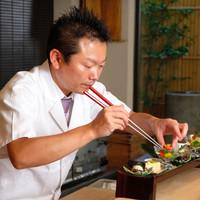 食材の特徴を生かし、斬新な和の一皿をつくり続ける料理人