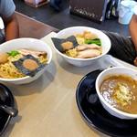 麺の風 祥気 - 鶏搾りつけそば + 味玉 & 魚介鶏骨つけそば + 味玉(2016年8月)