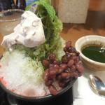 大戸屋 - 宇治抹茶のかき氷  ¥350-