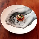 L'Octave Hayato KOBAYASHI - 料理写真:「桜肉と雲丹」