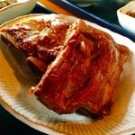 しむじょう - 本ソーキって初めて知りましたが普段食べてるのは軟骨ソーキで本ソーキは骨がしっかり固い奴だという説明。