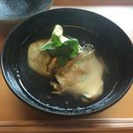 日本料理 山崎 - 夏野菜のしんじょう 蒸鮑