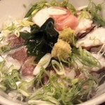 三ノ宮産直市場 - 淡路の炙りダコと大羽イワシの漁師丼