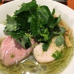 麺屋 六感堂 - 塩グリーン麺ゆずみつば