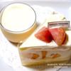 マクーン ヨコハマ - 料理写真:プリンとショートケーキ桃