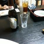 割烹 ふじむら - ノンアルコールビールアサヒドライゼロ、ウーロン茶