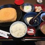 谷口屋 - 油あげ御膳(税別1380円)