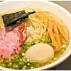 喜乃壺 - 料理写真:煮干蕎麦 塩+味玉 750+100円 強力な煮干し味を持ちつつあくまで端麗!