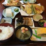 きらく九兵衛 - 天ぷら定食 ¥1600