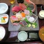 姫沙羅 - 魚河岸定食¥2200