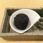 55317926 - 蓮根ボールトリュフ風味、竹炭