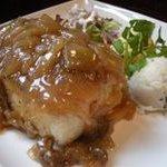 丸太小屋レストラン  びんずる - びんずる自慢の一品、揚げだし豆腐のあんかけステーキ『豆腐ステーキ』