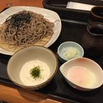 和食さと - 料理写真:とろろ月見蕎麦(^∇^)二倍盛り←足りない