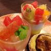 茶丸堂 - 料理写真:いちじくのタルト、ピンクグレープフルーツのゼリーなど頂きました。