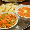 サムザーナ - 料理写真:2016/08/27再訪 チキンバターカレーとツナチーズナン
