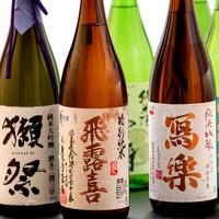 入手困難な『日本酒人気銘柄』の利き酒をお愉しみ頂けます。