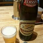 ホワイト餃子 - ビール。