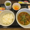 なか卯 - 料理写真:「肉すい朝定食(390円)」