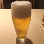 はーべすと - 生ビール。小さめですね。