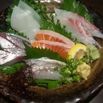 沖ちゃん - 選べる刺身5点盛り(1580円)