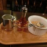 カフェ・ハイチ - アイスコーヒーの砂糖とミルク