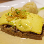 旬菜ステーキ処 らいむらいと - らいむらいと風チーズハンバーグ