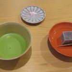 55431462 - 抹茶と季節の生菓子