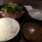 55435905 - 肉のたたき定食