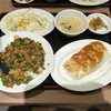 歓迎 - 料理写真:中華風そぼろ丼+餃子