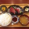 万福食堂 - 料理写真:はまち刺身定食 800円