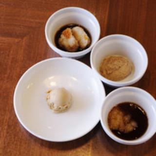 選べる4つの特製ソース!ディップして食べるのがてっぺい流!