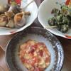 ・・・ - 料理写真:貝2種と、鮪の頭脇肉の山かけ