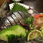55460513 - 新子(ソウダガツオの稚魚)の刺身                       見た目にも新鮮!