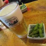 ほがらか - 生ビールとお通し