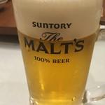王府井 酒家 - お馴染、ザ・モルツ