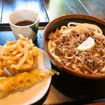 ぎやてい - 肉ぶっかけ & 天ぷら3種盛り