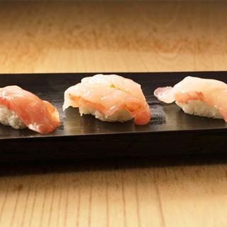 熟練の職人が握る『漁師寿司』が味わえる