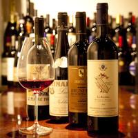 イタリア産ワインで取り揃えております。
