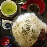 葉乃國カフェ - ほうじ茶かき氷 Before