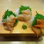 沼津魚がし鮨  - 貝3種盛り(1145円)