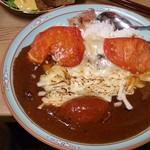 おやじカレー - 焼きトマト炙りチーズカレー(小盛り・4辛)