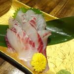 龍のおとし子 - 活!キビレの刺身(1,480円)