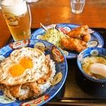 白楽天 - 焼豚玉子飯(Aセット)&生ビール