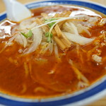 味の三平 - 鉄火麺(辛口