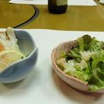 南鴨宮甲羅本店 - 料理写真:コースの前菜