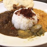 55629844 - スリランカカレー。豆カレー美味しい。