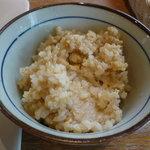 野菜畑 - ひよこ豆と玄米ご飯