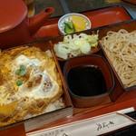 くま乃 - そばセット(カツ丼、冷たいそば)