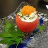 味処 大丸 - 料理写真:「熊本産トマト 胡瓜とズワイガニのサラダ」